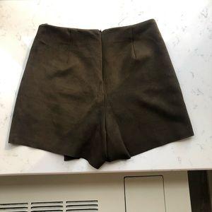 Zara Shorts - Zara brown suede mini skort
